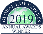 Global Law Experts 2019 Annual Awards Winner